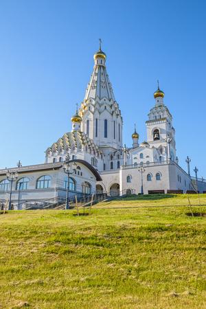 View on Church of All Saints in Minsk, Belarus Banco de Imagens