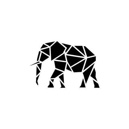 Geometric polygonal Elephant
