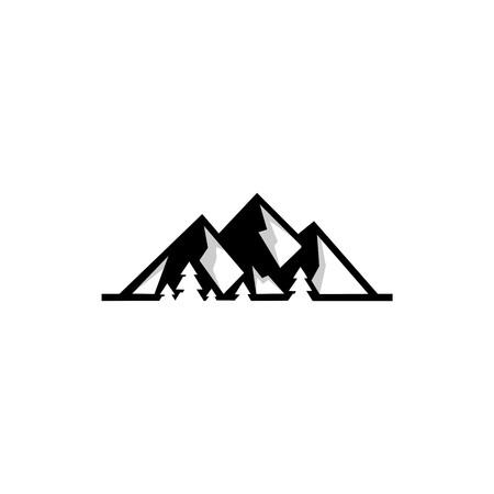 Top hill representing mountain peak