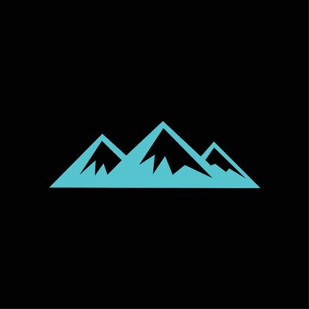mountains logo vector template on black background Ilustração