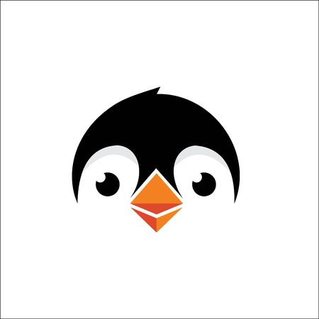 penguin logo design head