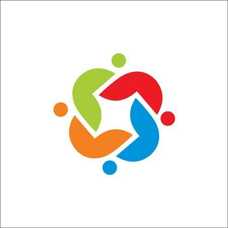 Community care Logo template vector icon Illustration