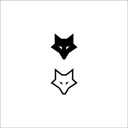 fox head icon logo vector template