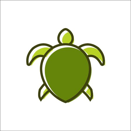 Vector of a turtle design logo vector animals  イラスト・ベクター素材