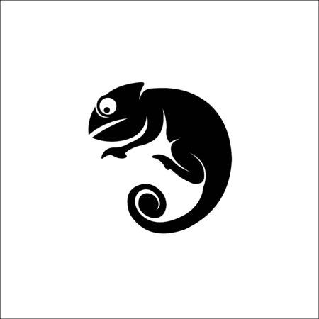 Chameleon illustration Reptiles symbol silhouette logo vector 일러스트