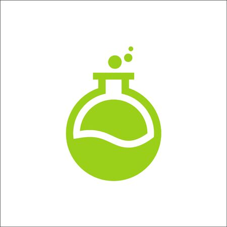 laboratory logo vector green color,Potion Bottle Icon