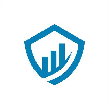 shield finance logo vector template Ilustrace