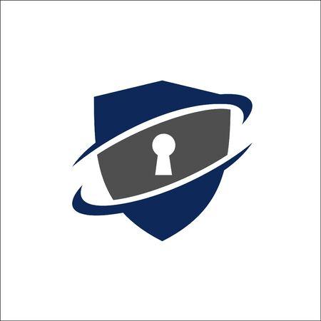 Security Guard logo design vector Çizim