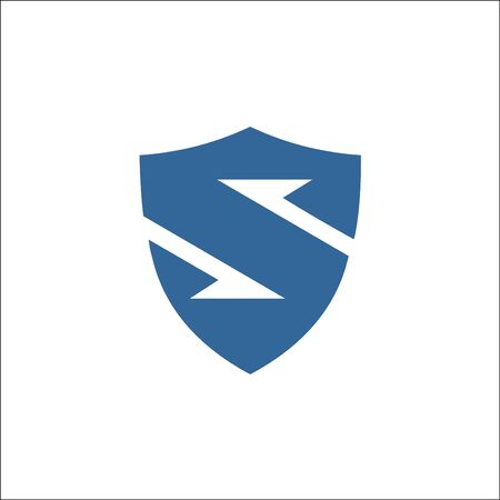 letter S forming a shield shape. logo vector. icon template.