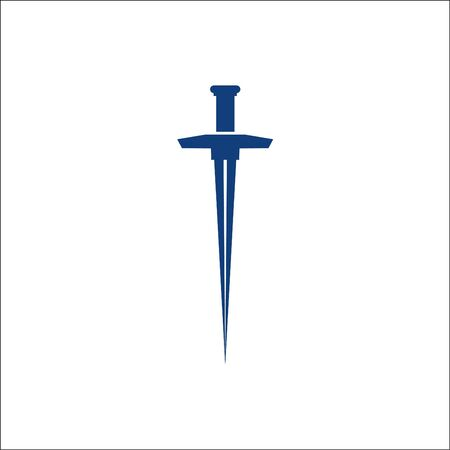 simple Sword icon logo designs vector Ilustrace