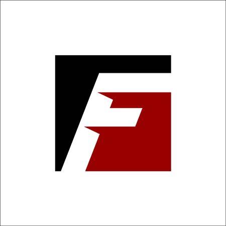 initial F and SQUARE Logo Design Concept