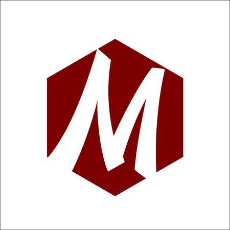 Hexagon Initial M Logo Vector