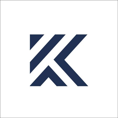 initials letter K logo vector