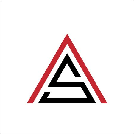 letter AS triangle logo vector template Ilustracja