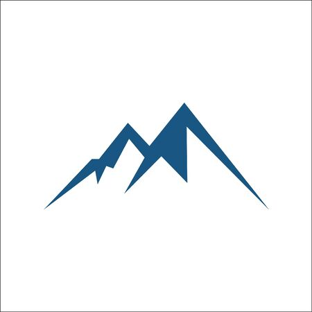 Mountain vector icon isolated on white background - stylized image. Ilustracja