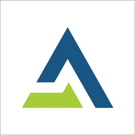 letter A triangle business logo vector,symbols app template Ilustracja