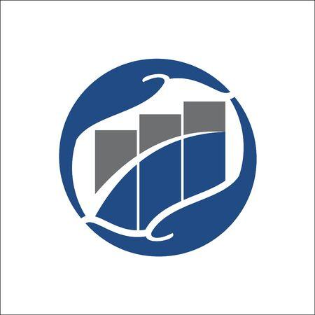Business Finance professional logo template vector icon Ilustracja