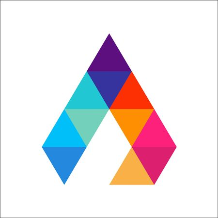 Letter A Colorful Triangle Logo Template vector