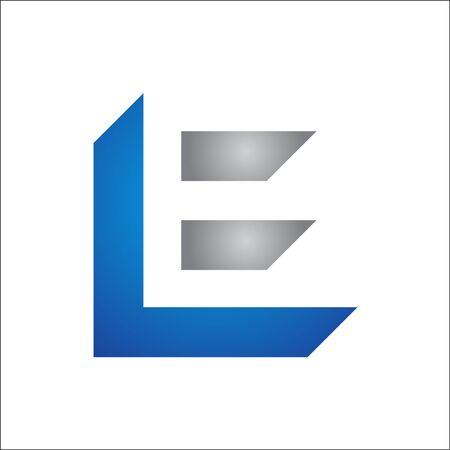 Modern creative unique elegant minimal artistic initials LE