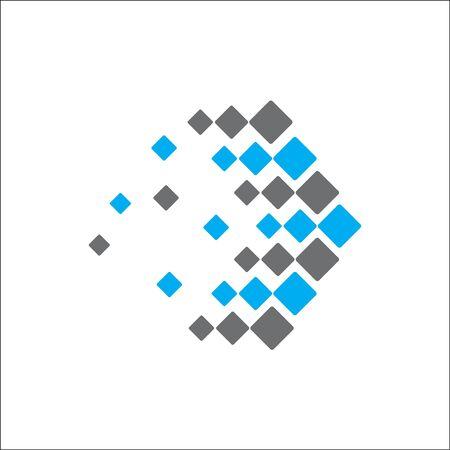 abstract logo technology arrow