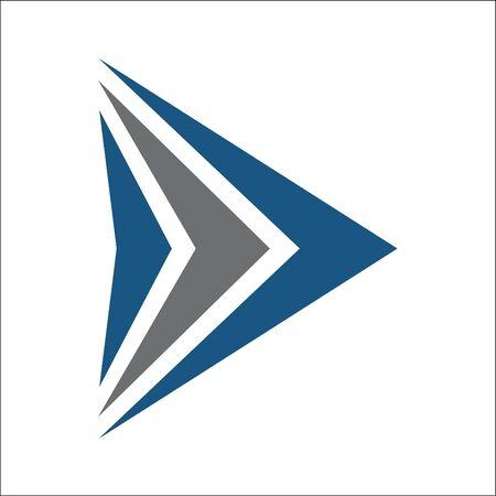 triangle logo abstract Ilustracja