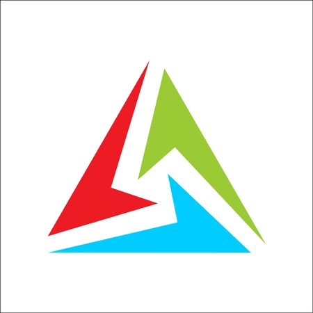 triangle logo abstract color full