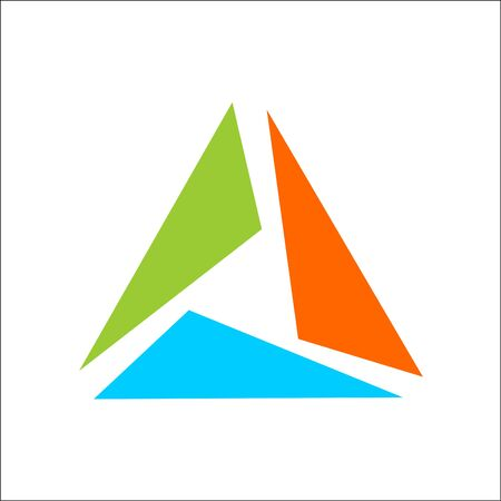 triangle logo abstract template vector Ilustracja