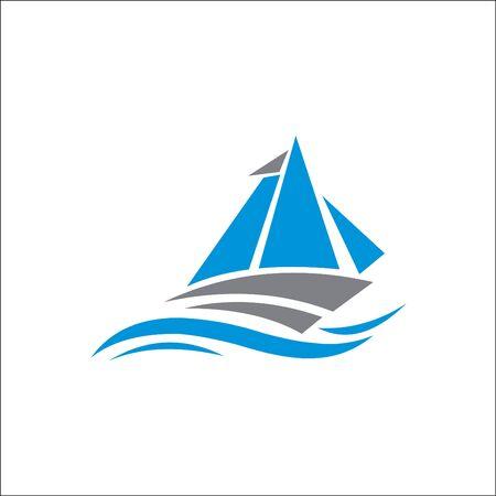 sail logo, sail illustration, icon logo vector design Archivio Fotografico - 138450579
