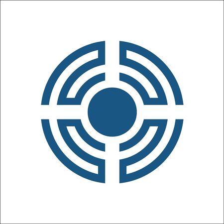 Sound Wave Logo Design Element Ilustrace