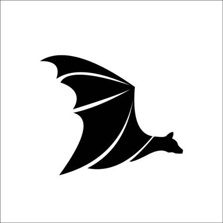 Bat logo template vector icon illustration Иллюстрация