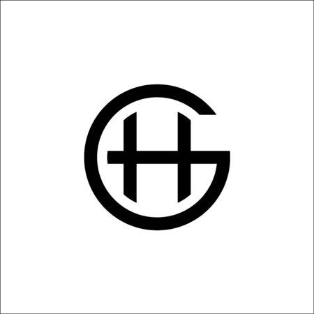 initials GH logo vector template,letter GH