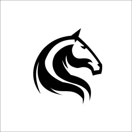 Horse head logo template vector