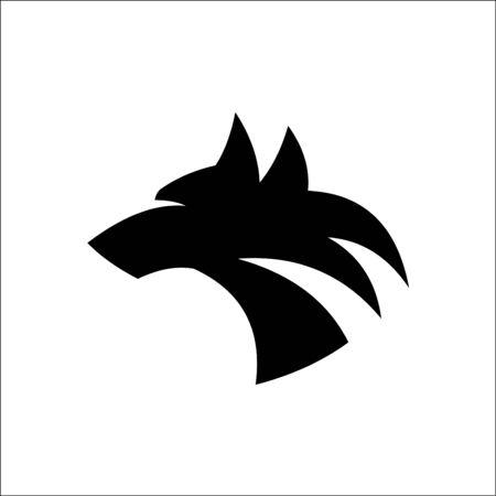 Wolf head logo vector silhouette