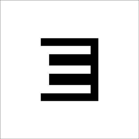 initials E letter negative space vector logo 일러스트