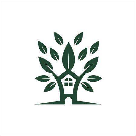 Eco Friendly Homes logo or symbol for property, real estate company Archivio Fotografico - 138902039