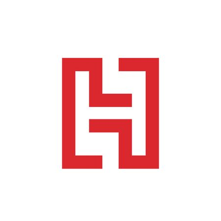 initial H Letter Logo vector Template