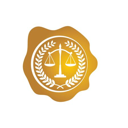 law firm logo vector template Ilustrace