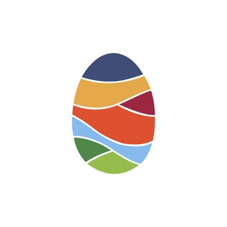 egg colorful logo vector Ilustracja