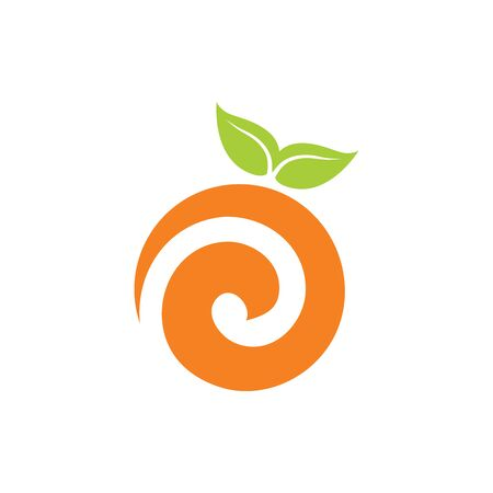 orange logo abstract vector designs