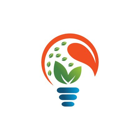 eco green light bulb logo vector Stock Illustratie