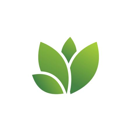 green leaf logo vector template