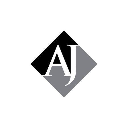 conception initiale de vecteur de logo de losange AJ Logo
