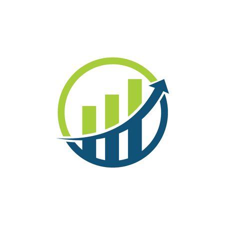 Vettore del modello di logo professionale di finanza aziendale