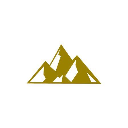 icono de vector de montaña Ilustración de vector