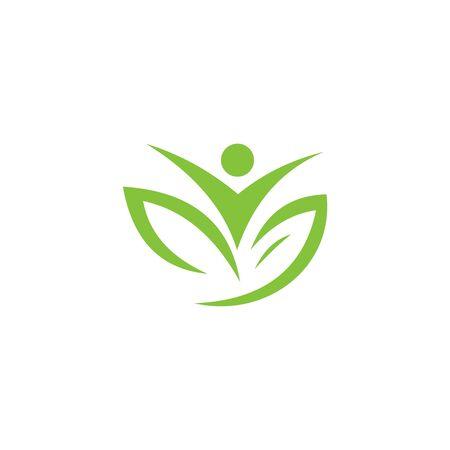 Healthy Life Logo vector template Ilustrace