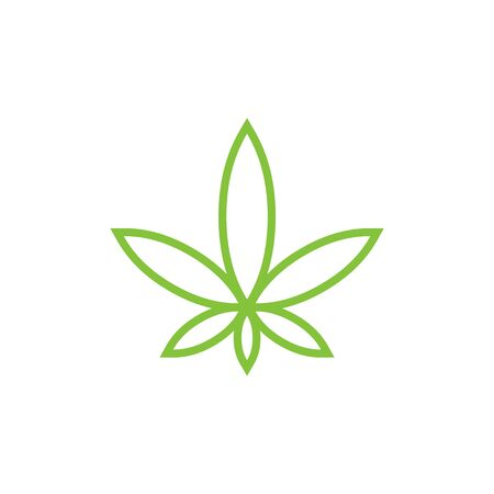 marijuana CBD extract products logo 스톡 콘텐츠 - 139785404