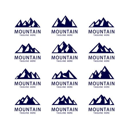 set van berg en lucht logo vector sjabloon