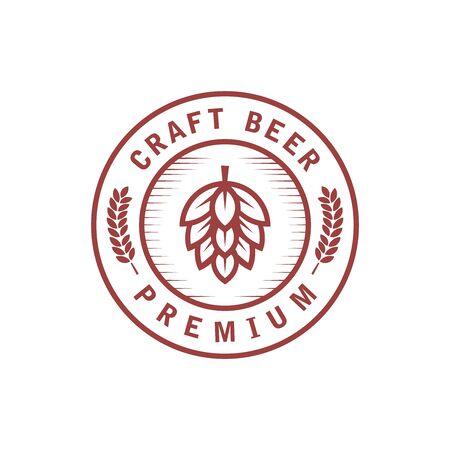 Brewing emblem logo Premium Vector Ilustração