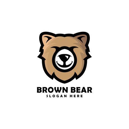Bear head mascot logo vector designs