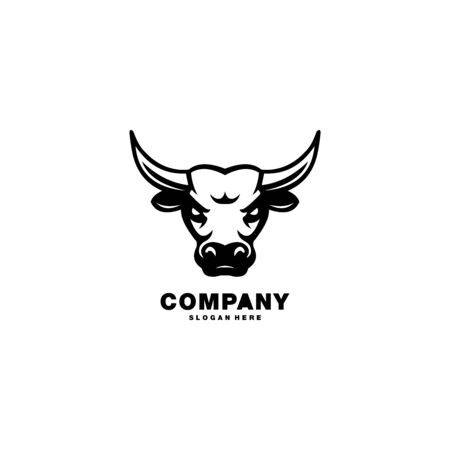 bull logo vector design template 向量圖像